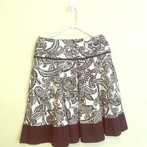 Black and white skirt